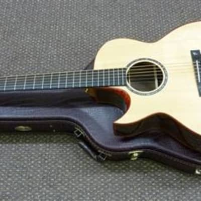 New L/H Terry Pack SJRS handmade cutaway acoustic guitar, armrest model, solid rosewood B/S, case, for sale