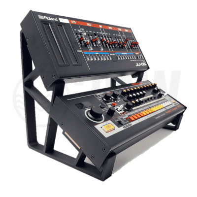 3DWaves XL Dual Tier Stands For The Roland Boutique Synthesizers SE-02 SH-01 TR-08 TR-09 TB-03 JU-06