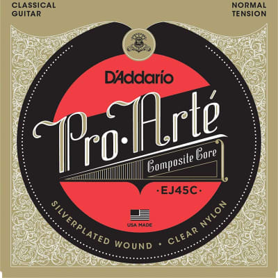 D'Addario EJ45C Pro-Arté Composite Classical Guitar Strings Normal Tension