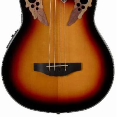 Ovation Celebrity Elite CEB-44 Acoustic Electric Bass in New England Burst for sale