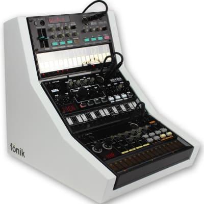 Fonik Audio Innovations stand for 3x Korg Volca, white
