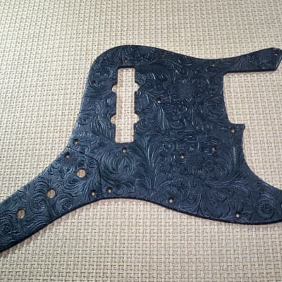 country western tolex pickguard & control plate for us/mex fender 62' re-issue jazz bass