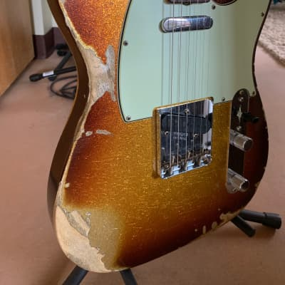 Fender Custom Shop - 2018 - '63  Telecaster - Heavy Relic - 3 Tone Sunburst Sparkle for sale