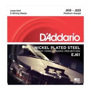 D'Addario EJ61 5-String Nickel Medium Banjo Strings