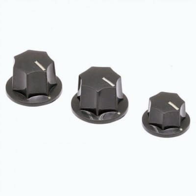 NEW Q-Parts Aged Collection Jazz bass knobs Relic Vinttage 1/4 inch ID for sale