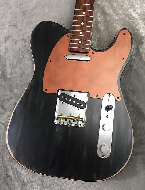 faux copper custom bakelite pickguard fender telecaster reverb. Black Bedroom Furniture Sets. Home Design Ideas