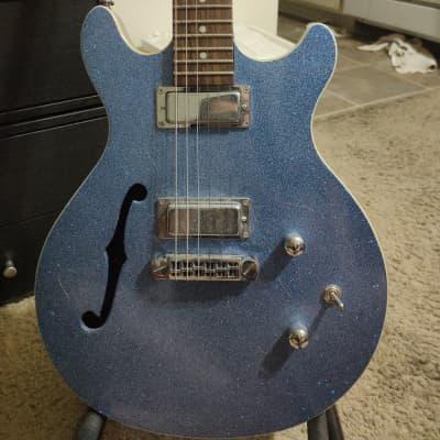 Daisy Rock DR6302 Stardust Retro-H Semi-Hollow Ice Blue Sparkle for sale