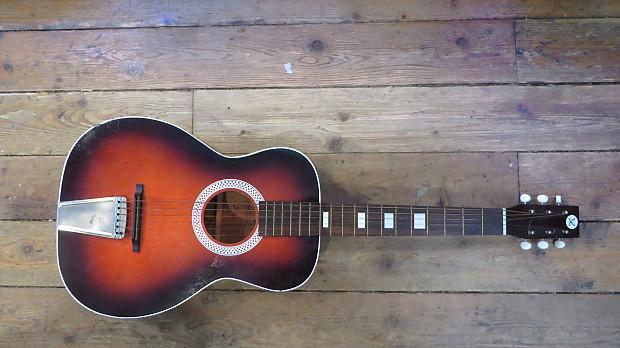 vintage sears roebuck harmony stella acoustic guitar w case reverb. Black Bedroom Furniture Sets. Home Design Ideas