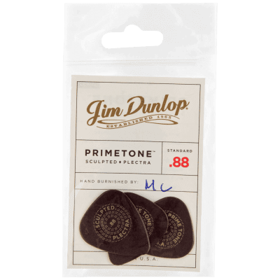 Dunlop Primetone Standard Smooth Picks 3-Pack, 511P - .88