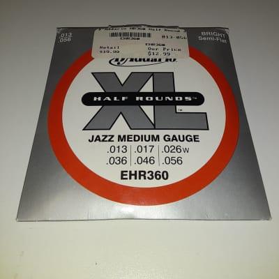 D'Addario EHR360 Half-Round Stainless Guitar String Set - Jazz Medium .013-.056