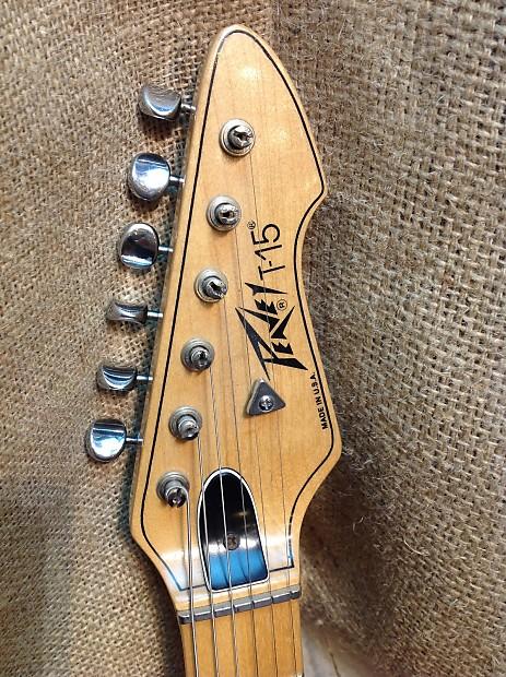 Vintage Peavey T 30 W T 15 Neck Electric Guitar Natural