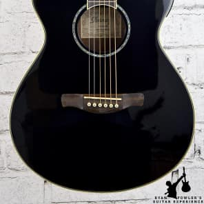 Ibanez AEG10LII Lefty Cutaway Acoustic-Electric Guitar Black for sale