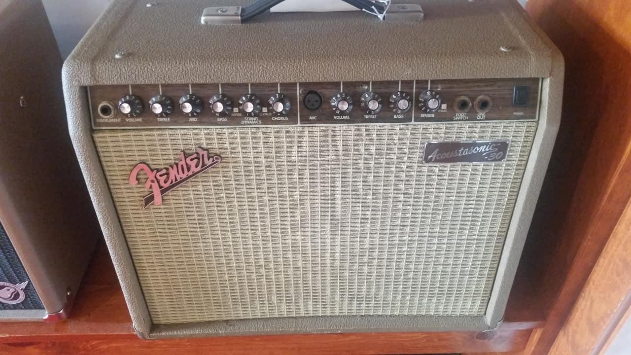 fender acoustasonic 30 acoustic guitar and vocal amplifier reverb. Black Bedroom Furniture Sets. Home Design Ideas
