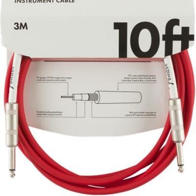 Fender Original Series Instrument Cable, 10', Fiesta Red