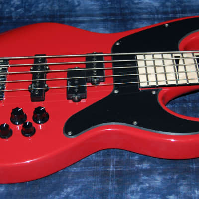 MINT! Jackson X Series Concert Bass CBXNTM 5-String V Maple Board Fiesta Red Authorized Dealer for sale