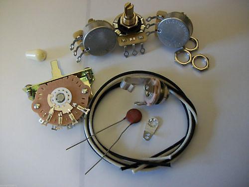 wiring harness harness upgrade kit for stratocaster cts oak reverb. Black Bedroom Furniture Sets. Home Design Ideas