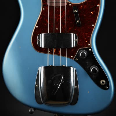 Fender Custom Shop Journeyman Relic 1960 Jazz Bass - Faded/Aged Lake Placid Blue