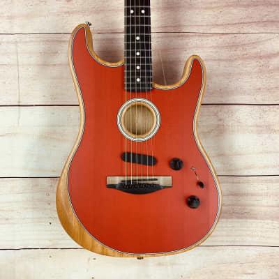 Fender American Acoustasonic Stratocaster 2020 Dakota Red