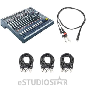 Soundcraft EPM 12 - 12 Mono + 2 Stereo Channel Recording & Live Sound Audio Console w/ Cables