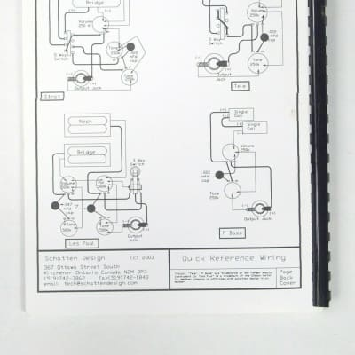 The New Book of Standard Wiring Diagrams for Guitar / Bass | Reverb | Guitar Wiring Diagram Book |  | Reverb