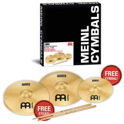 "Meinl HCS1314+10S HCS 13"" / 14"" Cymbal Pack with Free 10"" Splash"