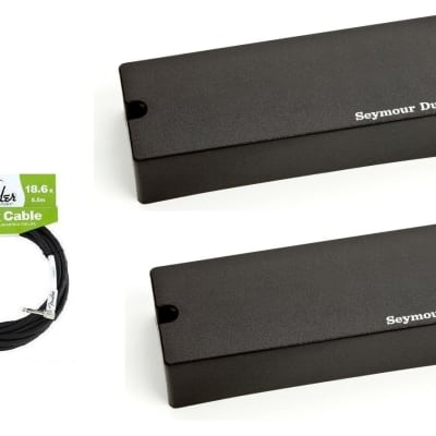 Seymour Duncan ASB2-5s Active Soapbar 5 String Bass Phase II Pickup Set ( 18 FENDER CABLE )