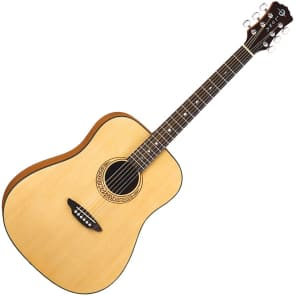Luna Gypsy Muse Dreadnought Acoustic Guitar Natural