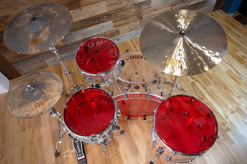 """Remo 12/"""" Emperor Colortone Red Drumhead"""