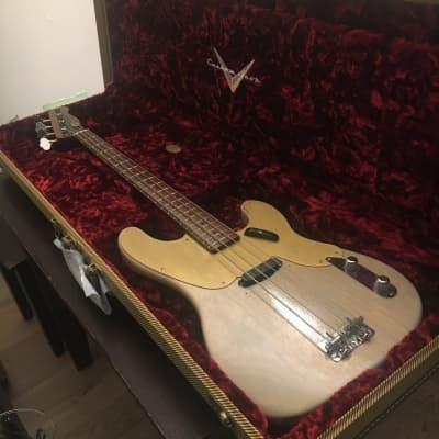 Fender 55 Precision Bass 2017 Dirty White Nitro Checked for sale