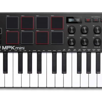 Akai MPK Mini MK3 25-Key MIDI Keyboard Compact Controller MKIII + MPC Beats Software Included MK III