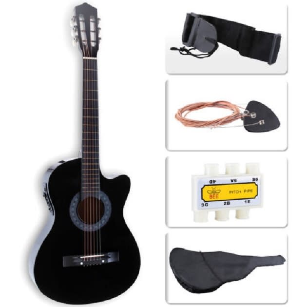 electric acoustic guitar cutaway design with guitar case reverb. Black Bedroom Furniture Sets. Home Design Ideas