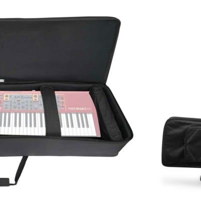 Rockville 88 Key Slim Padded Rigid Keyboard Gig Bag Case For NORD Stage 2 EX 88
