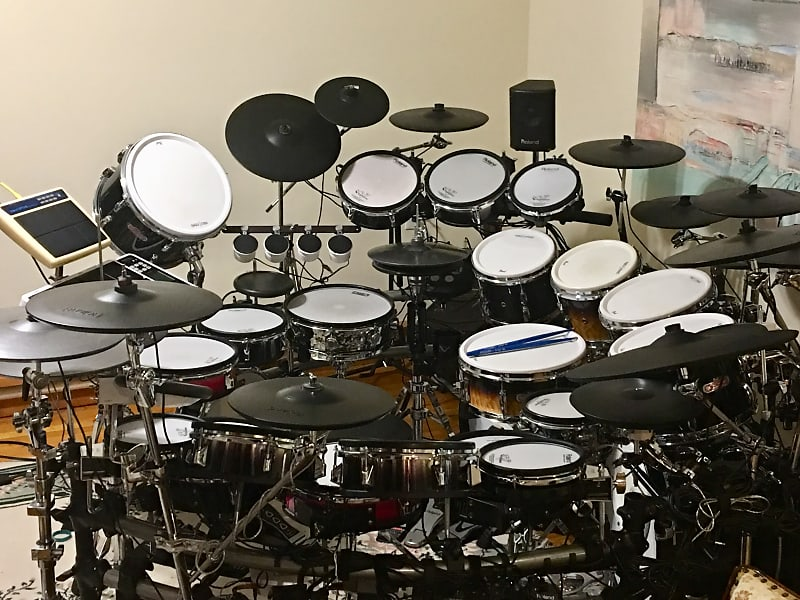 roland td 50 electronic v drum custom drum set reverb. Black Bedroom Furniture Sets. Home Design Ideas