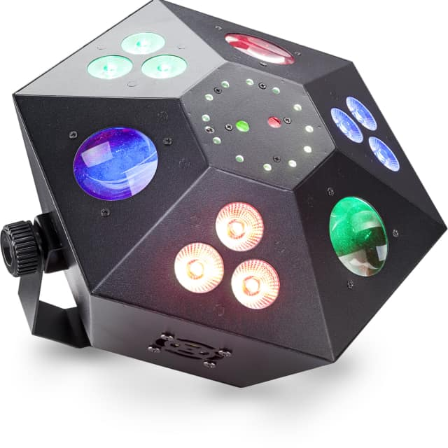 Stagg Multi-effects box with red and green lasers, 3 colour wash, strobe and LED flower image