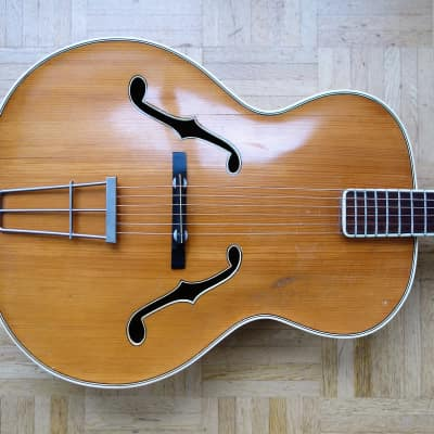 Fasan solid top archtop guitar ~1959 - natural - rare German vintage for sale