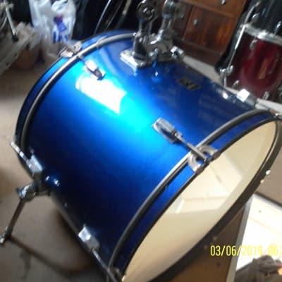 Performance Percussion  bass drum.. Full size Metallic Blue