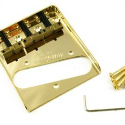 Wilkinson Telecaster® Bridge  Gold with Staggered Brass Saddles