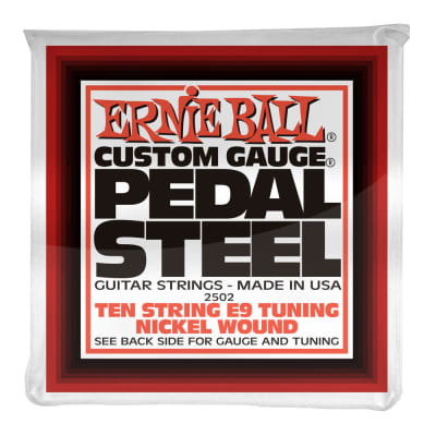 Ernie Ball 2502 10-String E9 Pedal Steel String Set, Nickle 13-38