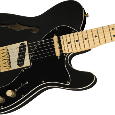 MINTY! Fender LTD Deluxe Telecaster Thinline Gold Hardware Satin Black Limited - Authorized Dealer for sale