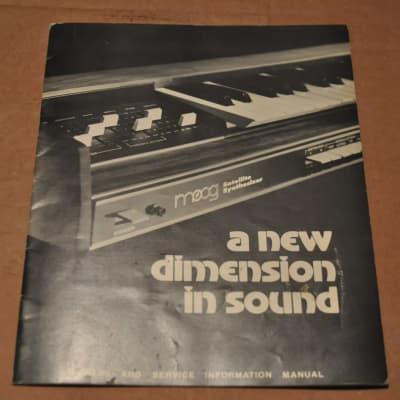 Moog Satellite Synthesizer owners manual vintage catalog booklet brochure. 1973  1973