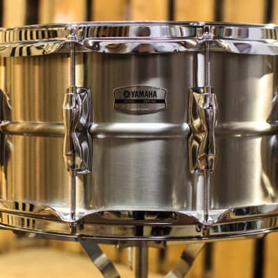 "Yamaha Recording Custom Snare Drum - 7"" x 14"" Stainless Steel (video demo)"