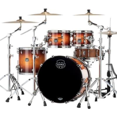 Mapex Saturn Evolution Classic 4 Pc Maple Drum Set Without Snare - 22/10/12/16 - Exotic Sunburst