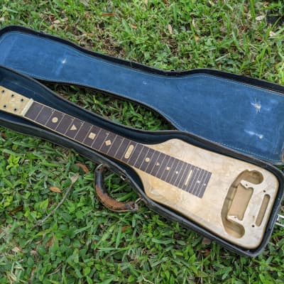 McKinney Lap Steel USA Valco Made Body Hull Carcus For Parts Or Project No Issues Great Shape W/Case for sale