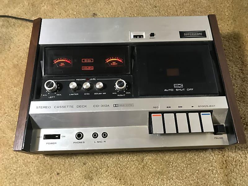 Superscope By Marantz CD-302A Cassette Deck 1970 Antique Silver