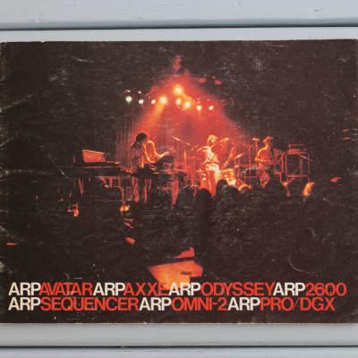 Arp Instruments, inc. original sales brochure for the orange 2600 Axxe Odyssey Avatar Omni etc.