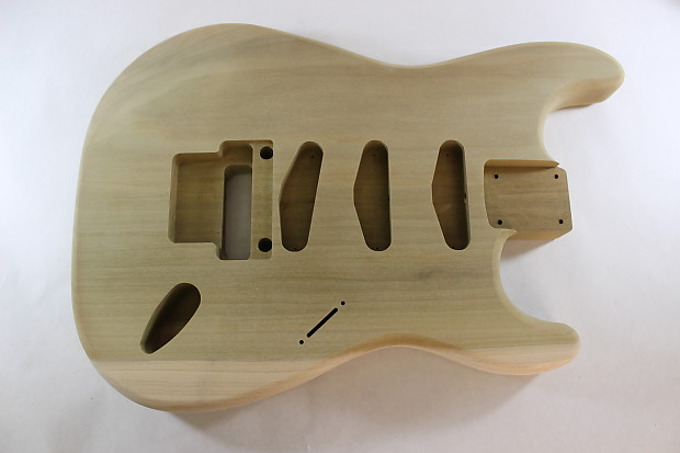 2pc Poplar unfinished Strat SSS style body 100/% UK Made