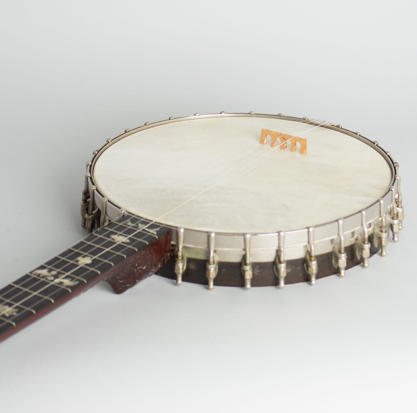 W. A. Cole  Eclipse Custom 5 String Banjo (1893), ser. #904, black hard shell case.