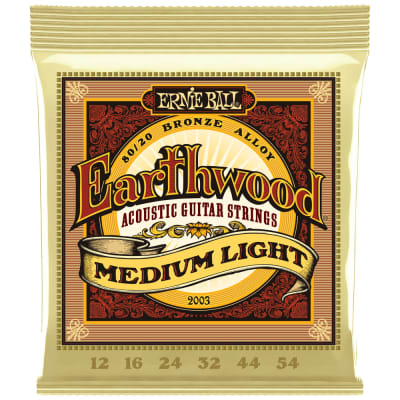 Ernie Ball Earthwood 80/20 Bronze Acoustic Medium Light 2003 .012-.054