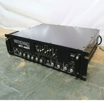 Ampeg SVT-400T 400-Watt Rackmount Bass Amp Head 1990's Black Made in the USA