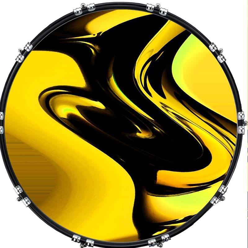 Custom Aquarian 22 Bass Kick Drum Head Front Drumskin Pop Art 2